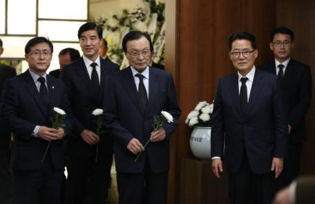 박지원 의원 부인상…여야 정치인 애도행렬