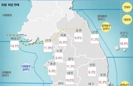 [날씨&라이프] '낮 최고 21도' 일교차 큰 날씨…밤부터 강원ㆍ경북 비소식
