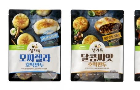 풀무원, 호떡과 만두 결합한 '생가득 호떡만두' 3종 출시