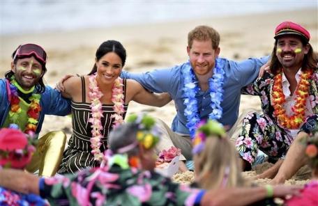 Australia Britain Royals <YONHAP NO-1117> (AP)