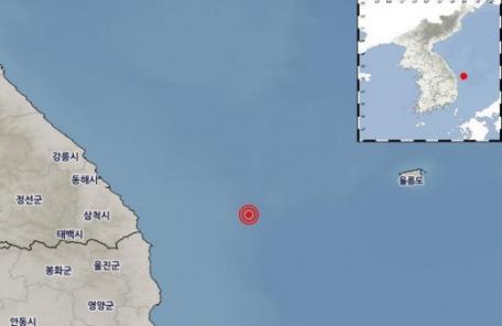 경북 울진군 인근 해역 규모 2.6 지진 발생