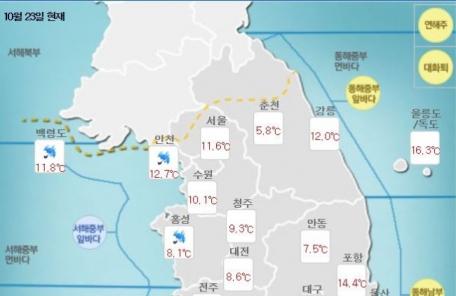[날씨&라이프] 중부ㆍ경상ㆍ전라 등 낮 한때 비…아침 최고기온 22도