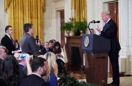 '백악관 기자 출입정지'놓고 CNN-美정부 '총성없는' 법정대결