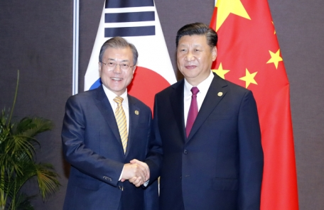 """문대통령 """"동북아평화 이해 일치"""" 시진핑 """"양국 입장 비슷""""(종합)"""
