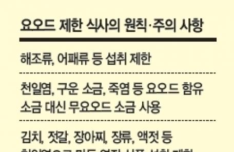 방사성 요오드 치료땐 해조류·어패류 삼가고 카페인 음료 피해야