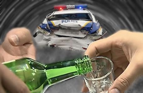 '포돌이' 들이받은 만취 운전자…경찰 순찰차 상대 음주사고 '입건'