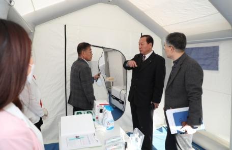 마포구 홍역 의심환자 '선별진료소' 운영