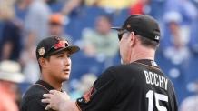교체출전에도 결승 투런포…황재균, MLB 입성 '무력시위'