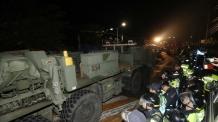 미사일 등 사드 핵심장비 성주골프장 배치…경찰 8000명 동원