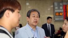 """김무성 """"박근혜 전 대통령 재판 불행한 일"""""""