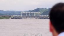 [헤럴드포토] '북삼교에서 바라본 군남홍수조절지…'