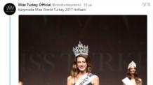 정치적 SNS글 때문에…미스 터키, 하루만에 왕관 박탈