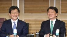 安ㆍ劉 기자회견서 '통합선언'