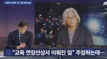 """X속으로 손이 쑥~"" …홍선주의 폭로에 손석희도 당황"