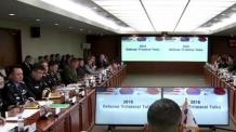 """한미일 """"북한 미사일 경보훈련 지속키로…북한, 핵무기 포기해야"""""""
