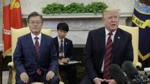 """문재인-트럼프 """"북미 간 실질적 비핵화 합의까지 긴밀히 공조"""""""