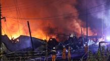 인천 야밤에 화재, 잿더미 된 합성수지 공장…인명피해 無