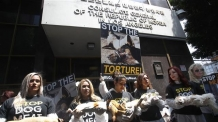 USA SOUTH KOREA DOG MEAT TRADE PROTEST <YONHAP NO-2357> (EPA)