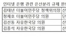 """인뱅에 힘실리나…새 진용 짠 정무위 """"특례법으로 은산분리 완화"""""""
