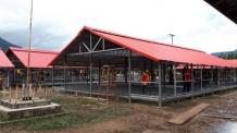 SK건설, 라오스 이재민을 위한 임시숙소 조성