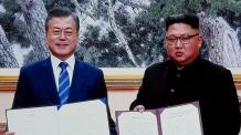 """(종합)南北, '9월 평양공동선언' 합의…김정은 """"핵위협ㆍ핵무기 없는 조선반도"""" 천명"""