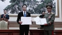 3판용)송영무-노광철, 남북 군사분야 합의서 서명…연말까지 11개 GP 철수