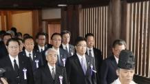 日 여야 의원, 야스쿠니 집단 참배