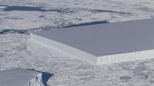 '자 대고 자른 듯?', 남극에서 발견된 각진 빙산