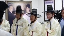 """이철우 도지사, 욕설 항의 보수단체 회원에 """"지X"""" 맞욕설 논란"""