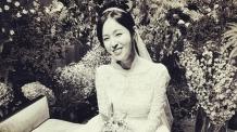 '두산家 며느리' 조수애, 웨딩드레스 자태 공개 '환한 미소'