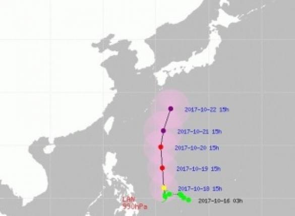 태풍 란, 오키나와 향해 북상…한반도 영향권?