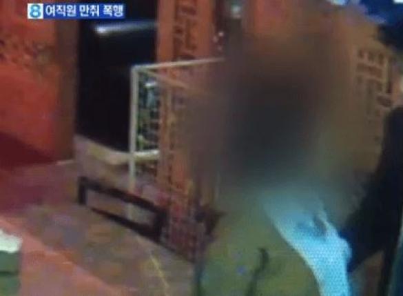 강성권 폭행 CCTV…옷찢고 몸싸움, 쌍방 따귀