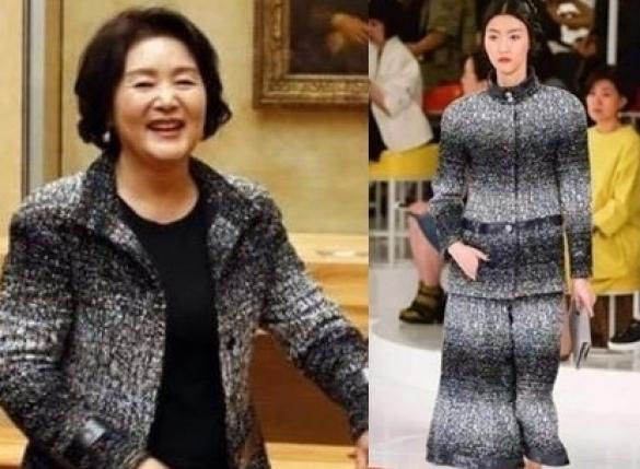 김정숙 여사 샤넬, 원래 핏은…'같은 옷, 다른 느낌'