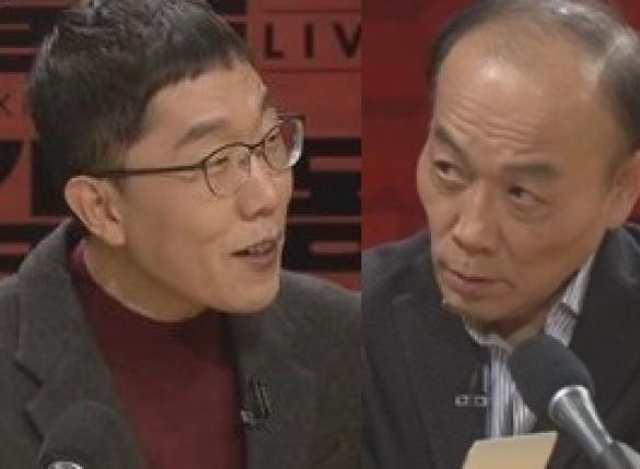 """""""예의바르게 하라"""" 전원책, 김제동과 신경전"""