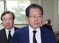 """홍준표, 친박 겨냥 """"당 지지율 오르는지 보겠다"""""""