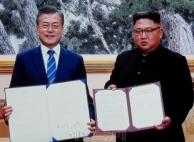 """김정은 """"핵위협ㆍ핵무기 없는 한반도"""" 천명"""