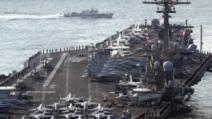 北 미사일 발사한 날, 칼빈슨호 동해 들어왔다
