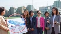배현진, 선거운동에 '세월호 사진' 사용 논란