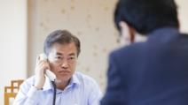 """한미정상, 25분간 통화…""""북미회담 성공 긴밀히 협의"""""""