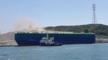 현대차 수출차량 2000여대 실은 대형 이송선박서 화재