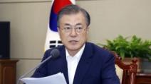 """文 """"평화경제 한반도 사활걸려…남북미 대화기회 천금같이..."""