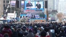 서울시 집회 금지에도…범투본 이틀째 광화문 집회 강행