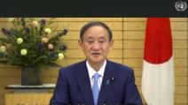 """일본인 납치 문제 강조한 日 스가, """"김정은 위원장 만나겠..."""