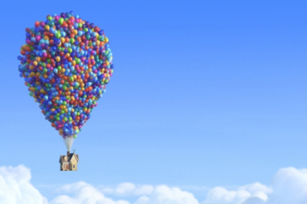 Team duplicates flying house feat from 'Up'