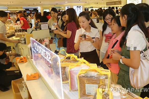 Foreign cosmetic products sold at relatively high prices in Korea