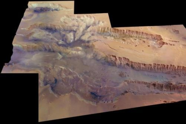 Mars canyon star of dramatic cosmic image