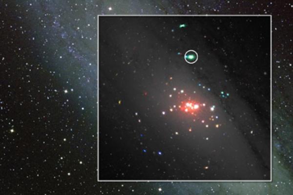Distant 'binge-eating' black hole observed