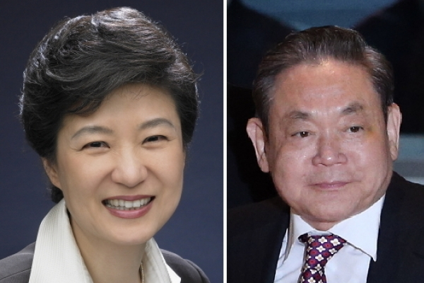 Samsung's Lee tops President Park on Forbes' powerful people list