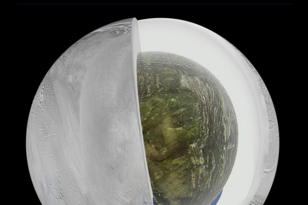 Vast ocean found beneath ice of Saturn's moon