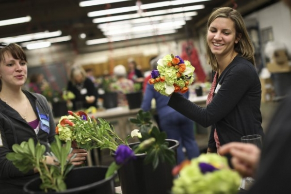 Brides take bouquet-making into their own hands